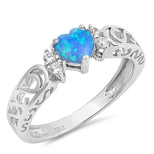 925 Sterling Silver Gemstone Ring Handmade Jewelry Size 5 6 7 8 9 10 11 12 ZD343