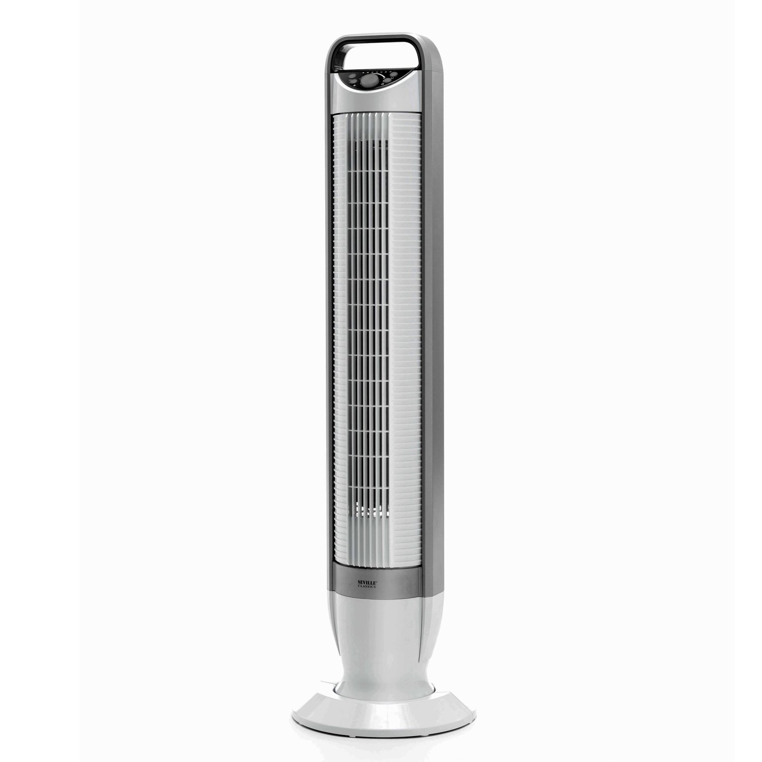 Seville Classics UltraSlimline 40 in. Oscillating Tower Fan with Tilt Feature, White