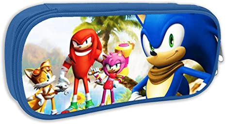 Amazon Com Sonic The Hedgehog Sonic Boom Anime Pen Bag Pencil Case Student Stationery Pouch Bag Office Storage Organizer Coin Pouch Cosmetic Bag 8 25 X 3 53 X 1 96 Inches Blue Arts Crafts Sewing