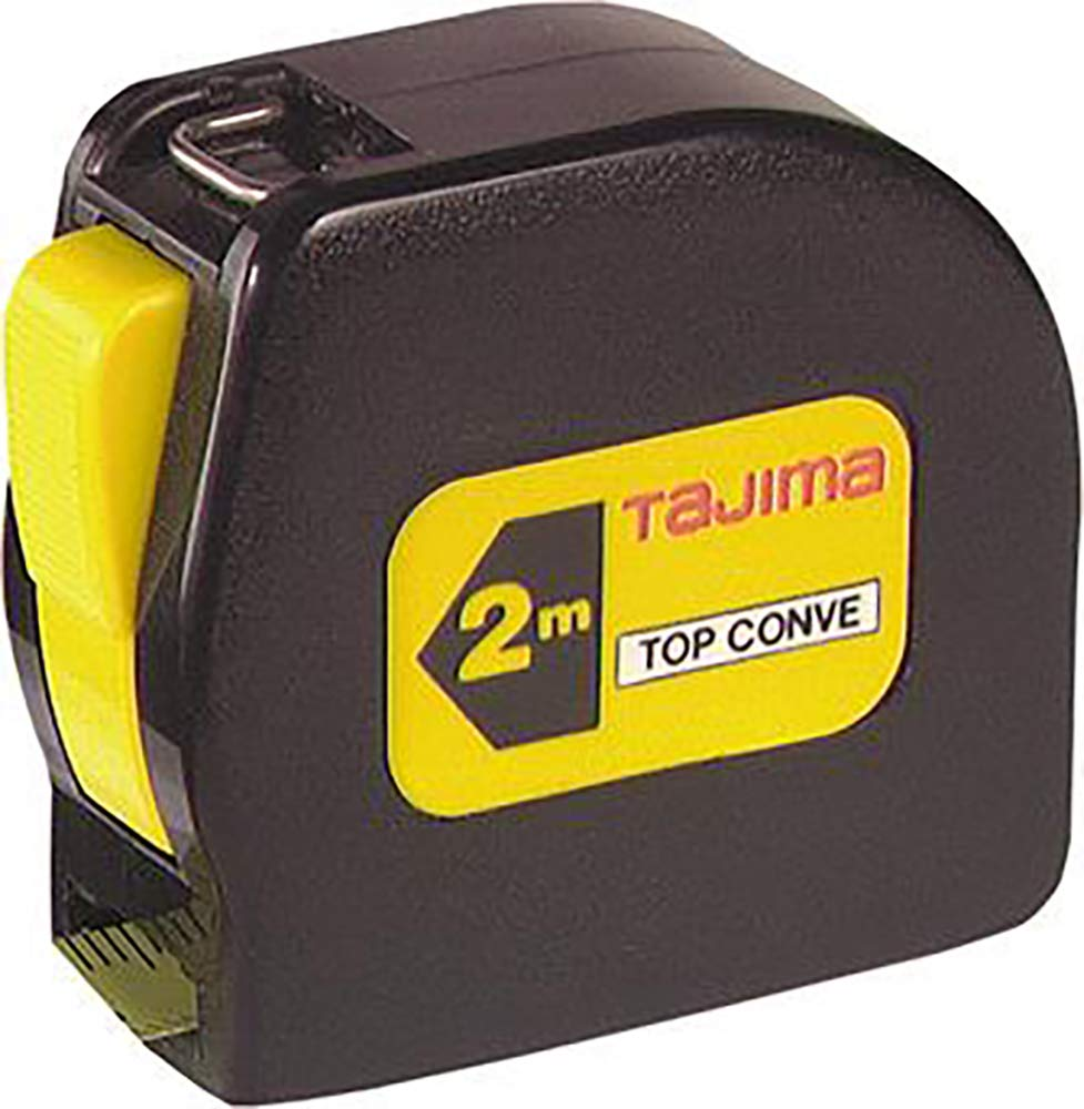 Tajima TOP30MY'Top Conve' Measuring Tape, Black/Yellow, 230 mm