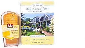 Joie Clear Cheese Fresh Pod Bundle with 50 Great Bed & Breakfasts and Inns: New England: Includes Over 100 Signature Brunch Recipes (Paperback)