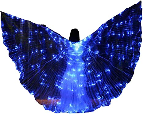 Jolie LED Cosplay ISIS Wings Espumoso Adulto Disfraces de Danza ...