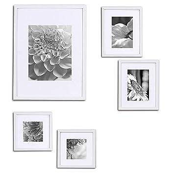 amazon co jp high quality 5 piece white wood photo frame wall