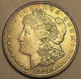 #8: 1921 S Silver Morgan Beautiful Dollar AU Almost Uncirculated +