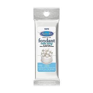 Satin Ice White Fondant, Vanilla, 4.4 Ounces