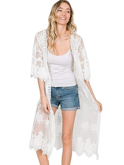 Women's Clothing Fashion Style 2018 Elegant Ladies Summer Long Lace Kimono Cardigan Women Long Sleeve Shirts Beach Blouse Shirt Female Crochet Tops Plus Size