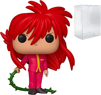 Amazon Com Funko Animation Yu Yu Hakusho Kurama Pop Vinyl Figure Includes Compatible Pop Box Protector Case Toys Games