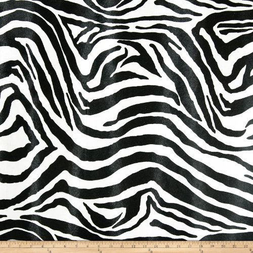 (Faux Leather Zebra Black/White Fabric By The Yard)