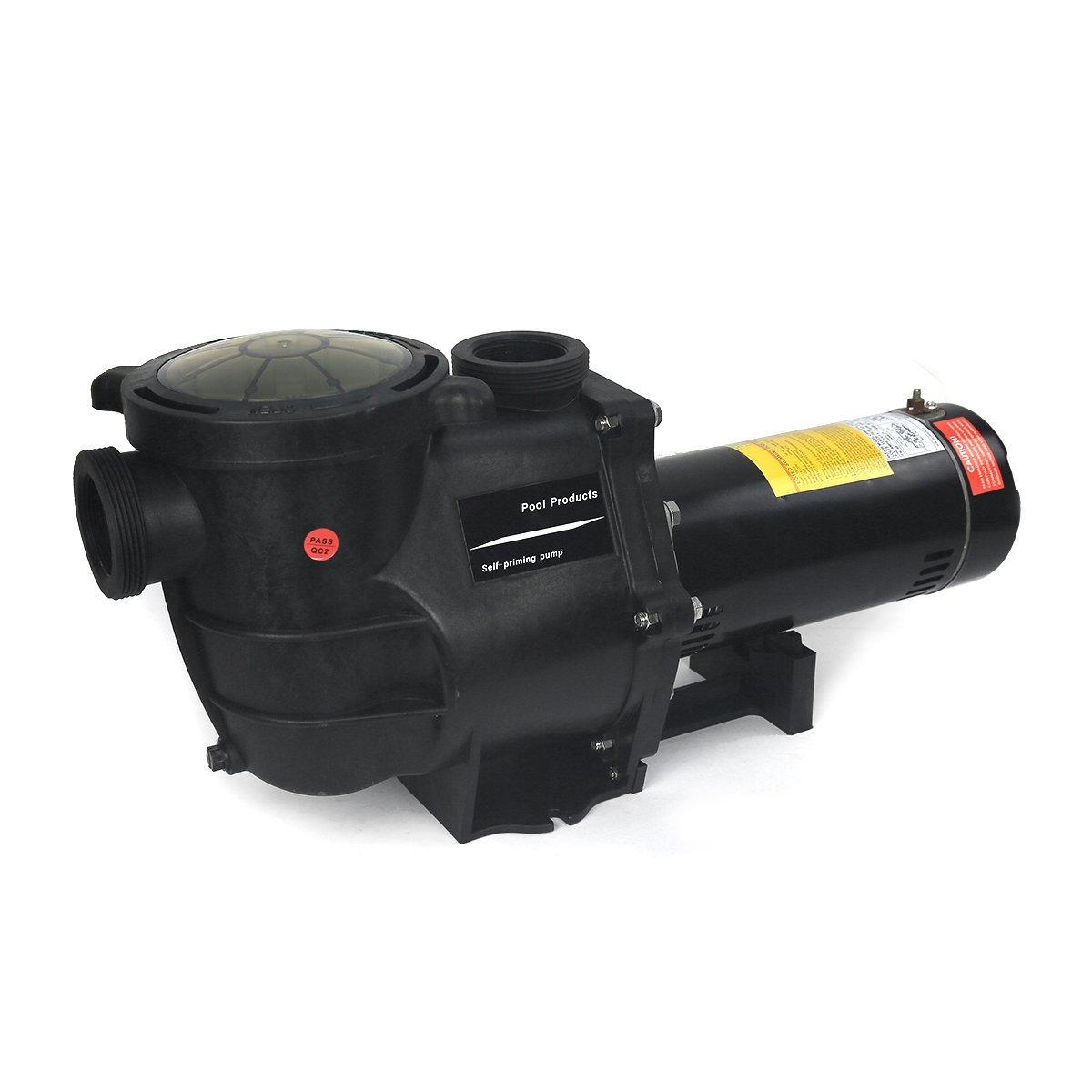 2hp Inground Pool Pump 220 110 Dual Volt 1 Phase Single Capacitor Start Motor Wiring Diagram Garden Outdoor