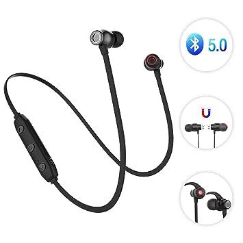 eab48dba9 Sunvito Deporte V5.0 de Bluetooth Auricular, Ligero Nuca Sudor Auriculares  Estéreo Inalámbricos con Mic para Llamadas de Manos Libres y Magnética  Atracción ...
