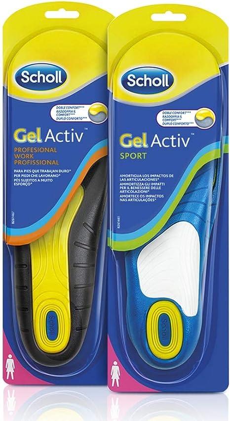 Scholl Gel Activ 1 Paio di Solette da Lavoro + 1 Paio di