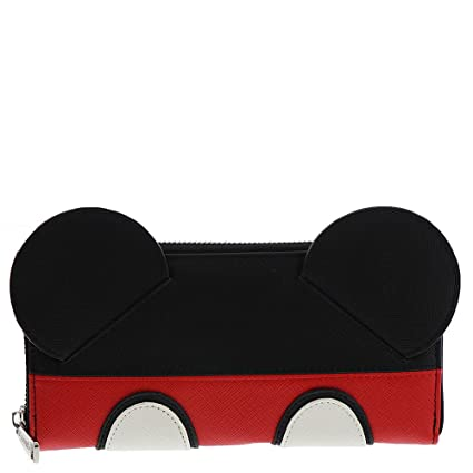 LGFLY - Cartera tarjetero cremallera diseño Mickey