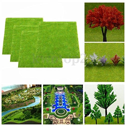 gg-4-pcs-set-model-train-layout-green-grass-mat-25x25cm-ho-scale-scenery-turf-new