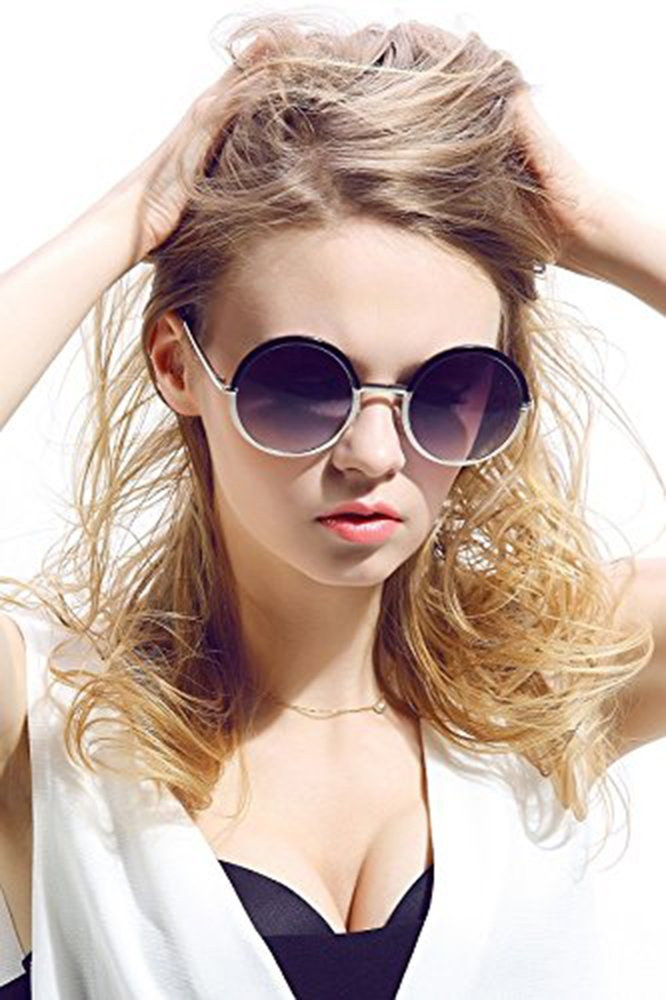 Diamond Candy Occhiali da Sole Donna,Sexy e Alla Moda ,Polarizzato,UV protezione,UV400 Bianco