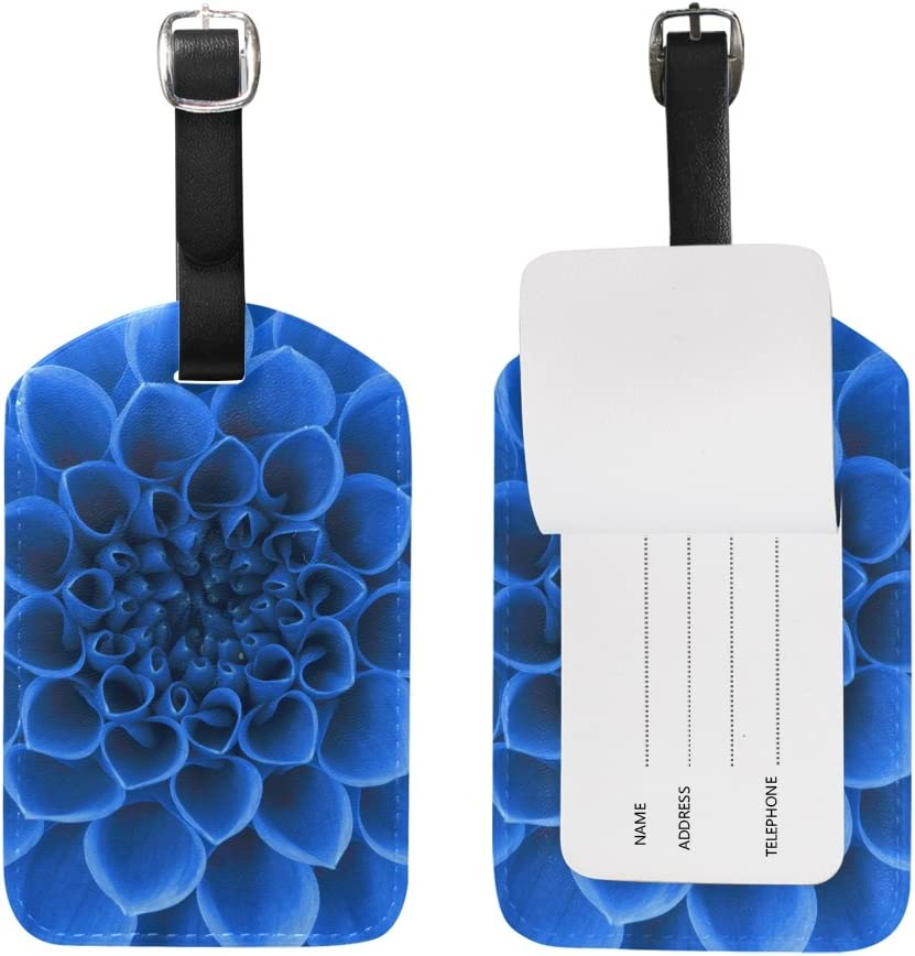 Chen Miranda Petals Flower Luggage Tag PU Leather Travel Suitcase Label ID Tag Baggage claim tag for Trolley case Kids Bag 1 Piece