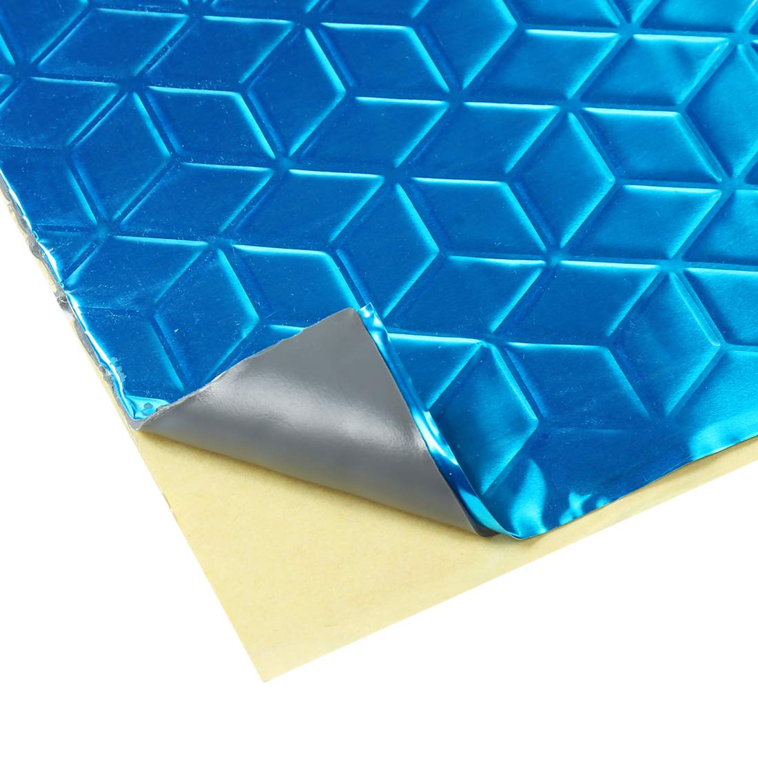 uxcell 10pcs Blue 80mil 40sqft Sound Deadener Heat Insulation Deadening Mat Pad