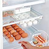 Fridge Egg Holder, Pull Out Refrigerator Drawer Organizers Fridge Shelf Holder Storage Box Adjustable Snap On Refrigerator Eg