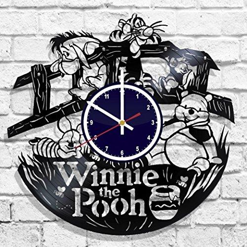 (Wall clock Winnie the Pooh, Winnie the Pooh design decal, Winnie the Pooh poster)