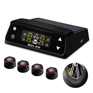 yunshangauto® TPMS coche solar, sistema de monitoreo calibrador de presión de los neumáticos inalámbrico