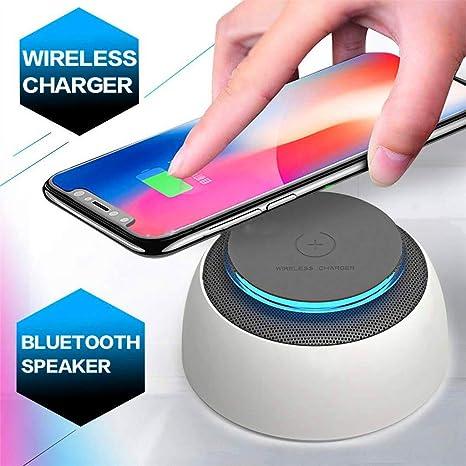 HUATXING Cargador inalámbrico Altavoz Bluetooth con Carga ...