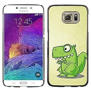 Stuss Case / Funda Carcasa protectora - Dinosaur Green Cute Reptile Drawing Art - Samsung Galaxy S6 SM-G920