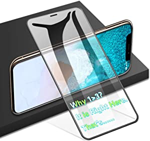AGVEE Full Coverage 3D Tempered Glass Screen Protector for Apple iPhone 11 Pro Max, XS-Max, Perfect Arc Fit, 9H, PC Edge Corner, i-Phone 6.5'' (10-Plus 10s 10x 10xs max) Anti Fingerprint Saver Film