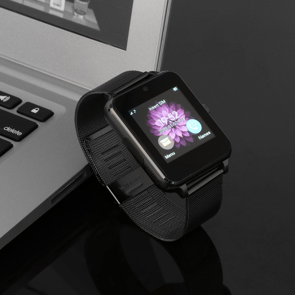 Redriver Multi-Language Bluetooth Smart Watch with Metal Strap for Android iOS (Black) by Redriver (Image #2)
