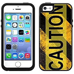 Skin Decal for OtterBox Symmetry Apple iPhone 5 Case - Caution Danger Sign