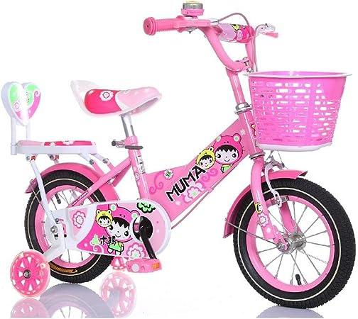 MAZHONG Bicicletas Bicicleta para Niñas con Canasta ...