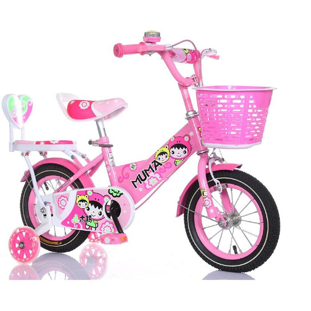 Kids Bicycles Meiduo Girl 's Bike withバスケット、12、14、16、または18 Inch Girls Bike withトレーニングWheels、子供のためのギフト、Girls ' Bicycles 12 inch ピンク B07FC9KGFJ
