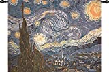 Van Gogh The Starry Night Tapestry Wall Hanging 51 Inches By 40 Inches