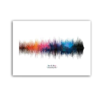 LAB NO 4 Stand by Me Song Soundwave Lyrics Music Poster
