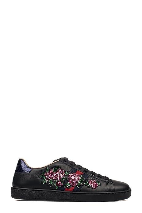 GUCCI MUJER 460258A38G01284 NEGRO CUERO ZAPATILLAS: Amazon.es: Zapatos y complementos