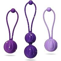 Acvioo Boules de Geisha Dispositif de contrôle de la vessie et formation des muscles du plancher pelvien premium en Silicone Médical ensemble balls pour femme Kegel exerciser