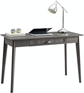 Newport Series Home Office Computer Writing Desk with Fully Extended Drawer | Laptop PC Workstation with USB Hub | Sturdy and Stylish | Easy Assembly| Smoke Oak Wood Look Accent Living Room Furniture