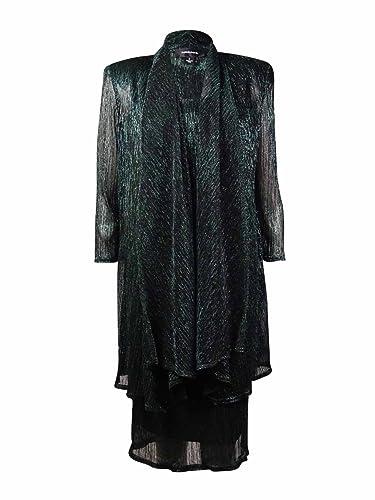 R&M Richards Women's Shimmer Jacket Dress