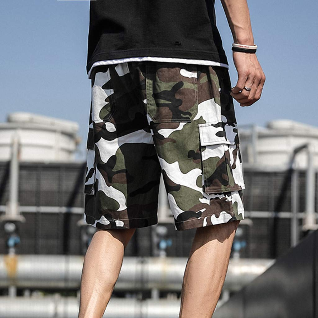 Pantaloni Corti Uomo Taglie Forti Bermuda Cargo Short Multi Tasca Pantaloncini Sportivi da Uomo Casual Estate Patchwork Babyshan Pantaloncini Cargo Uomo Pantaloni Corti da Lavoro Uomo