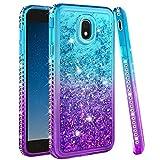 Galaxy J7 2018 Case,Galaxy J7 Refine Case,Galaxy J7 Star Case,J7 Crown Case,Galaxy J7 V J7V 2nd Gen Case,J7 Aura Case,Ruky Bling Diamond Glitter Liquid Case for Samsung Galaxy J7 2018, Aqua