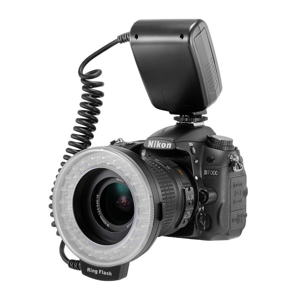 Amazon.com : Lightdow 48 Pieces Macro LED Ring Flash Light with LCD ...