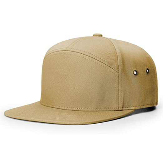 2040USA Richardson 7 Panel Cotton Twill Structured Camper Hat With  Adjustable Leather Strapback (Biscuit) at Amazon Men s Clothing store  080680061b49