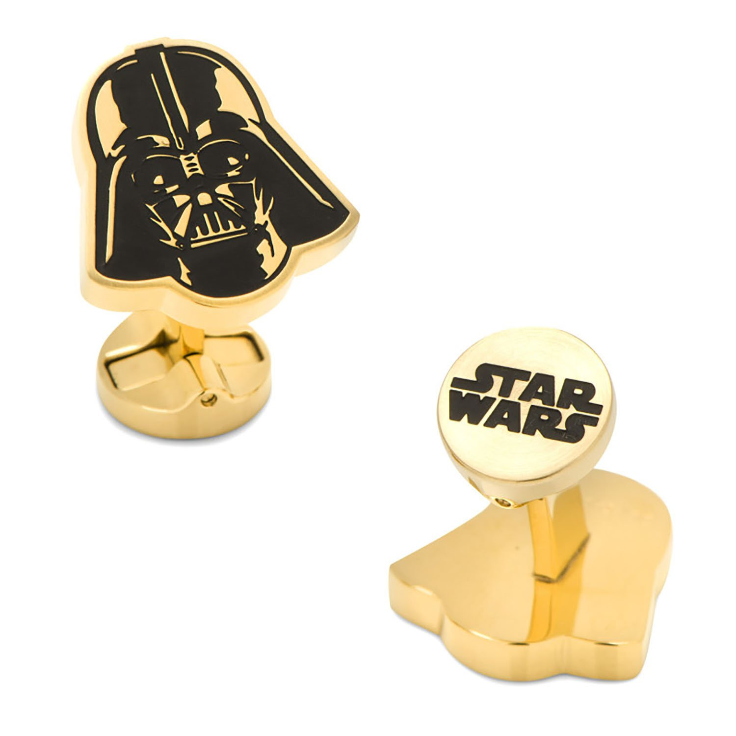 Stainless Steel Black and Gold Darth Vader Cufflinks
