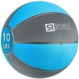 Sports Research Medicine Ball (10lb) | Helps develop core strength & balance