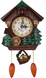 Yinuoday Cuckoo Clock, 12.6inch Big Wall Clock Battery-Operated Vintage Coo Coo Clock for Home Kitchen Bathroom DÃcor