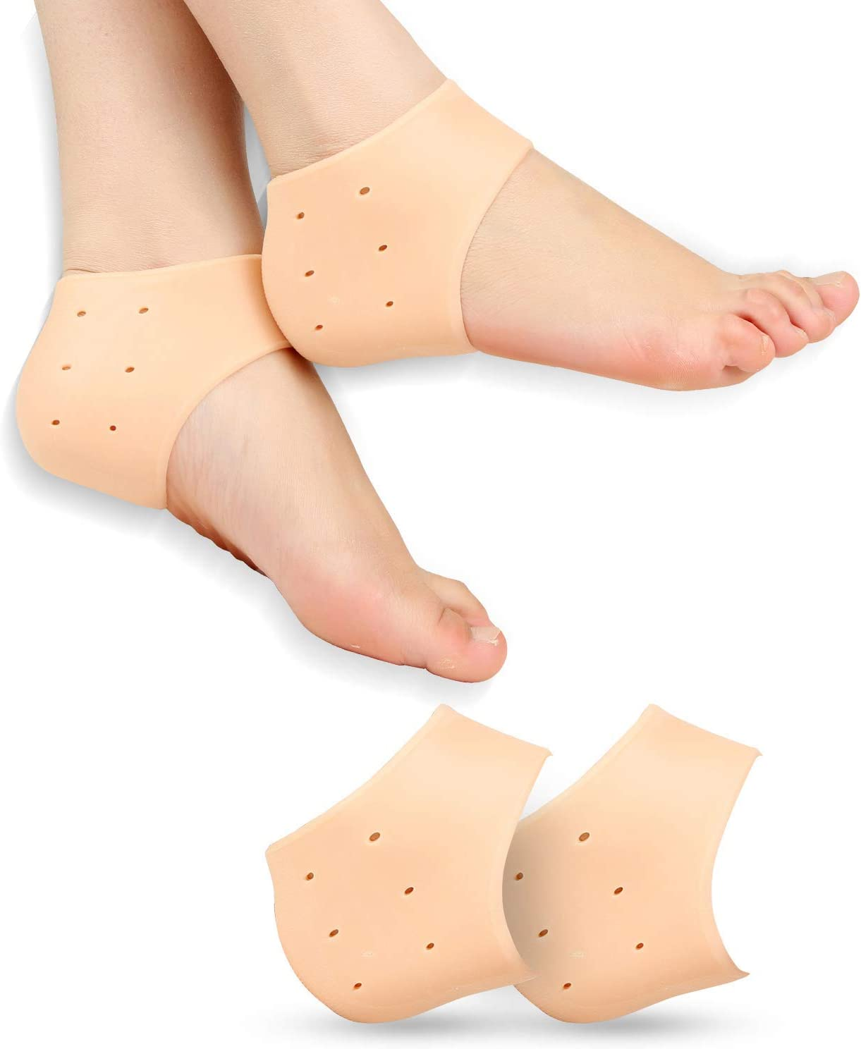 2 Pairs Silicone Smooth Skin Heel Socks Protector for Cracked Foot Skin Care