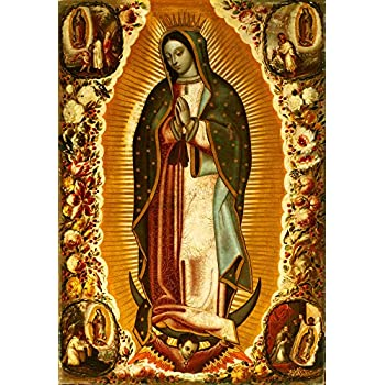Amazon Com Our Lady Of Guadalupe Canvas Print 18x26