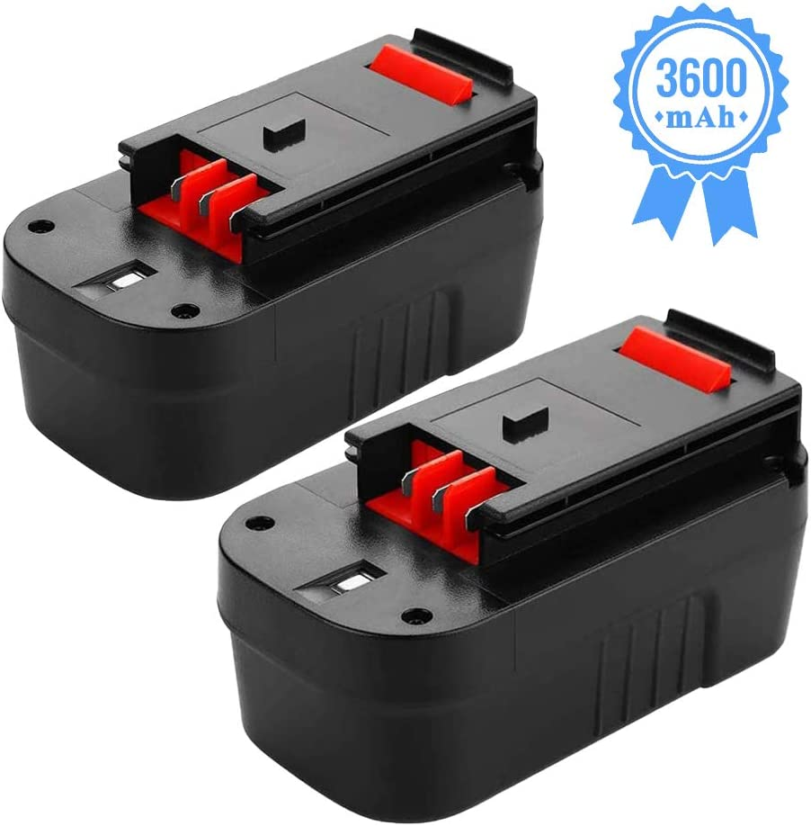 HPB18 3.6Ah Replacement for Black and Decker 18V Battery Ni-Mh HPB18-OPE FSB18 244760-00 FS180BX A1718 FS18FL FSB18 FEB180S Firestorm Cordless Power Tool 2 Packs