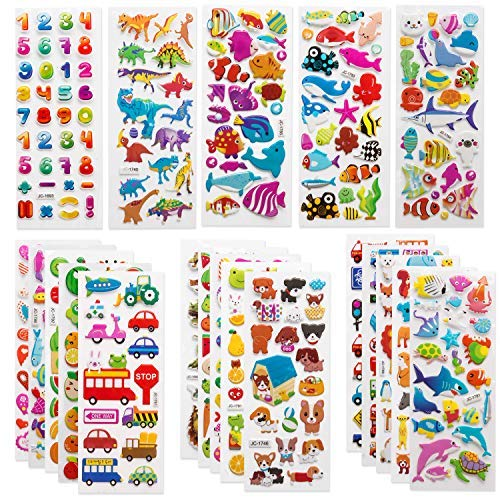 Disney Halloween Themed Food (SAVITA 3D Stickers for Kids & Toddlers 500+ Puffy Stickers Variety Pack for Scrapbooking Bullet Journal Including Animal, Numbers, Fruits, Fish, Dinosaurs, Cars and)