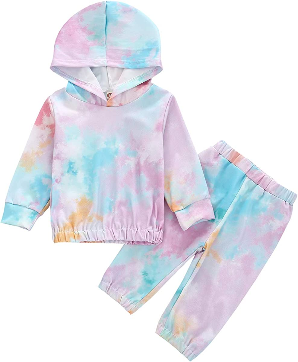 Toddler Kids Girl Boy Clothes Long Sleeve Hoodie Sweatshirt Pants Set 2Pcs Toddler Girl Fall Clothes Set