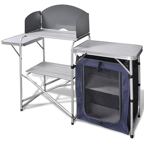 Tidyard Mesa de Trabajo Plegable para Camping o Cocina, con ...