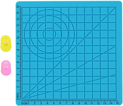 F Fityle Plantillas de Dibujo Geométrico de Vinilo con 3D Lápiz de ...